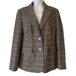 Chadwicks Of Boston Vintage Plaid Blazer Wool 10
